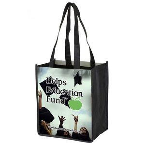 """""""Couple Things"""" Full-Color Glossy Lamination Grocery Shopping Tote Bag (Overseas)"""