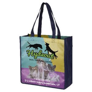 """""""Local"""" Full-Color Glossy Lamination Grocery Shopping Tote Bag (Overseas)"""