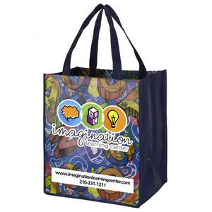 """""""Once-a-Week"""" Full-Color Glossy Lamination Grocery Shopping Tote Bag (Overseas)"""