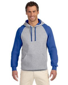Jerzees Adult 8 oz. NuBlend® Colorblock Raglan Pullover Hood