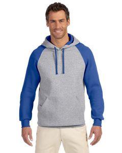 JERZEES® Adult 8 Oz. NuBlend® Colorblock Raglan Pullover Hoodie
