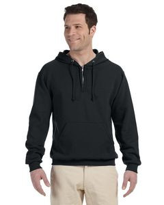 Jerzees Adult 8 oz. NuBlend® Fleece Quarter-Zip Pullover Hood