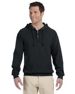JERZEES® Adult 8 Oz. NuBlend® Fleece Quarter-Zip Pullover Hoodie