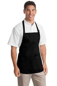 Port Authority® Medium Length Apron w/ Pouch Pocket