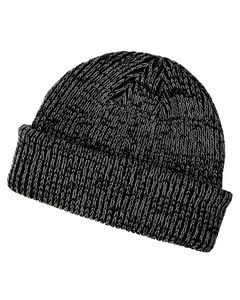 Big Accessories Ribbed Marled Beanie