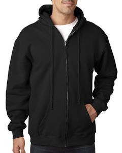 BAYSIDE Adult 9.5oz., 80% cotton/20% polyester Full-Zip Hooded Sweatshirt
