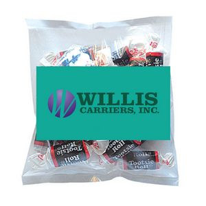 Business Card Magnet w/Small Bag of Tootsie Rolls
