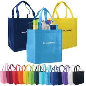 Atlas Non-Woven Grocery Tote Bag