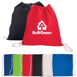 Cotton Drawstring Backpack Bag