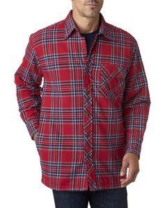 Backpacker Men's Flannel Shirt Jacket w/Quilt Lining