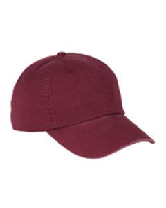 Big Accessories 6-Panel Washed Twill Low-Profile Cap
