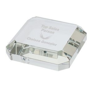 Square Crystal Paperweight