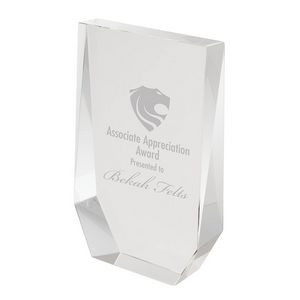 Chaintre II Large Crystal Wedge Award