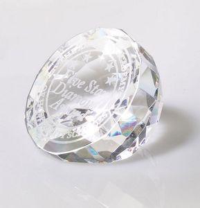 Modica Flat Cut Crystal Diamond Award