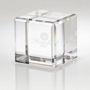 Quadrado Small Plain Crystal Block Award