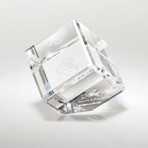 Canto I Small Corner Crystal Block Award