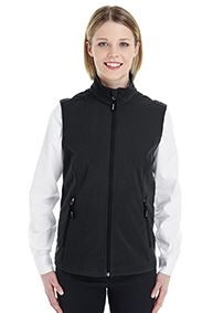 CORE365™ Ladies' Cruise 2 layer Fleece Bonded Soft Shell Vest