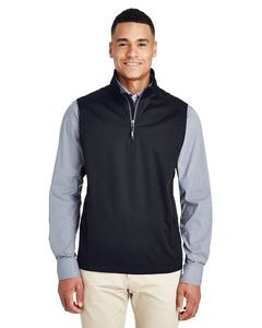 CORE 365 Men's Techno Lite Three-Layer Knit Tech-Shell Quarter-Zip Vest