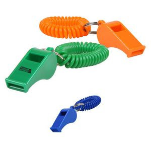 Whistle Key Chain with Coil Wristband