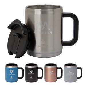 Manna 14 oz. Boulder Stainless Steel Camping Mug w/ Handle
