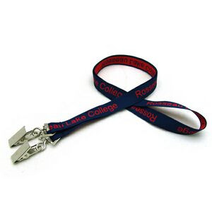 "5/8"" Detailed Coarse Weave Lanyard w/Double Standard Attachment"