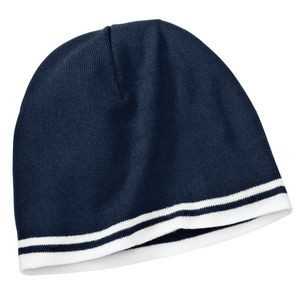 Port Company® Fine Knit Skull Cap w/Stripes