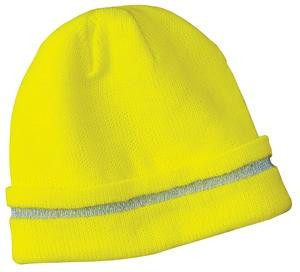 CornerStone® Enhanced Visibility Beanie Hat w/Reflective Stripe