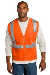 CornerStone® ANSI 107 Class 2 Mesh Zippered Vest