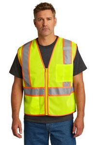 CornerStone® ANSI 107 Class 2 Mesh Zippered Two-Tone Vest