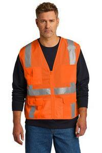 CornerStone® ANSI 107 Class 2 Mesh Six-Pocket Zippered Vest