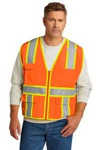 CornerStone® ANSI 107 Class 2 Surveyor Zippered Two-Tone Vest