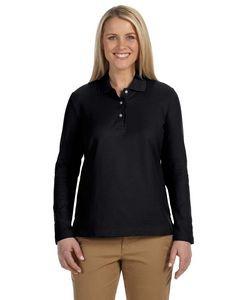 Devon & Jones® Ladies' Pima Piqué Long Sleeve Polo Shirt