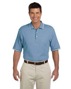 Devon & Jones® Men's Pima Piqué Short Sleeve Tipped Polo Shirt