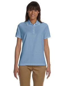 Devon & Jones® Ladies' Pima Piqué Short Sleeve Tipped Polo Shirt
