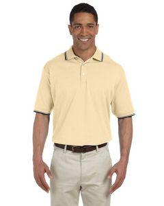 Devon & Jones® Men's Tipped Perfect Pima Interlock Polo Shirt
