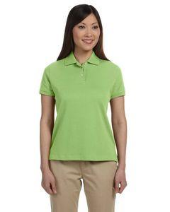 Devon & Jones® Ladies' Solid Perfect Pima Interlock Polo Shirt