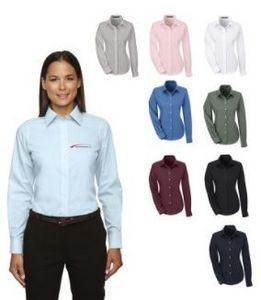 Ladies Devon & Jones® Crown Collection™ Solid Broadcloth Shirt
