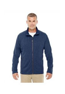 Devon & Jones® Men's Fairfield Herringbone Full-Zip Jacket