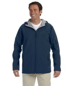 Devon & Jones® Men's Hooded Soft Shell Jacket
