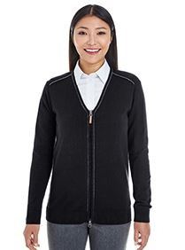 Devon & Jones® Ladies' Manchester Fully Fashioned Quarter-Zip Sweater