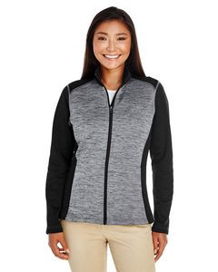 Devon & Jones® Ladies' Newbury Colorblock Mélange Fleece Full-Zip Sweater