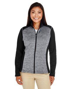 Devon & Jones® Ladies' Newbury Colorblock Mélange Fleece Full-Zip Sweater