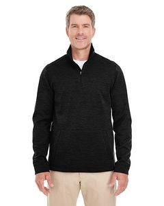 Devon & Jones® Men's Newbury Mélange Fleece Quarter-Zip Jacket