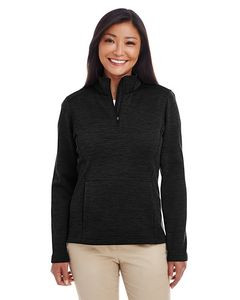 Devon & Jones® Ladies Newbury Mélange Fleece Quarter-Zip Jacket