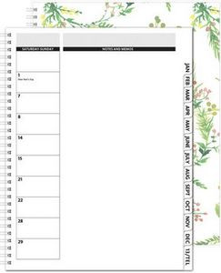"TheDirector™ ClearView Monthly Planner w/Chip Back (8.5""x11"")"