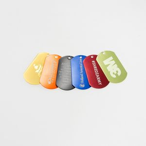 Laser Engraved Ball Chain Dog Tag