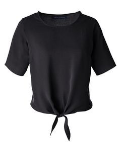 Devon and Jones Ladies' Perfect Fit? Tie-Front Blouse