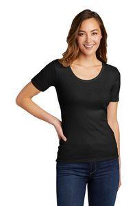 District® Women's V.I.T™ Rib Scoop Neck Tee Shirt