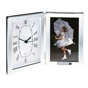 """Jadis I Hinged Photo Frame & Clock (Holds 4""""x6"""" Photo)"""