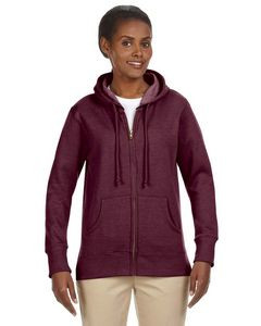 Econscious Ladies' 7 Oz. Organic/Recycled Heathered Fleece Full-Zip Hoodie